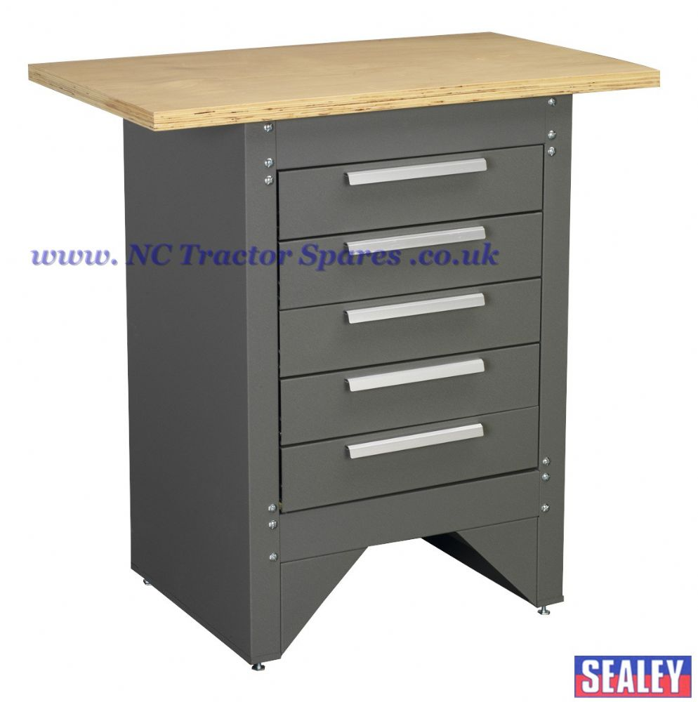 Workstation with 5 Drawers Ball Bearing Runners Heavy-Duty